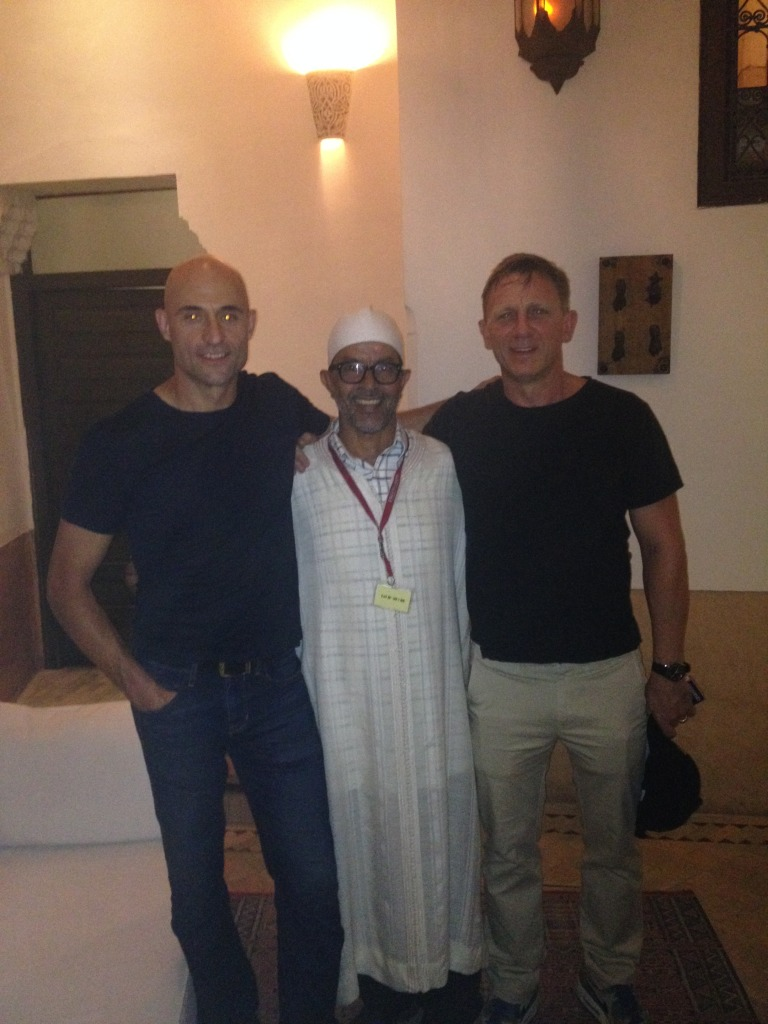 Mustapha guided Mark Strong and Daniel Craig on 20-Sept, 2014.